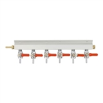 "843656 - 6-way Gas Distributor - 1/4"" barbs"