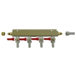 "843674 - 4-way Gas Distributor - 3/8"" barbs"