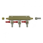 "843673 - 3-way Gas Distributor - 3/8"" barbs"